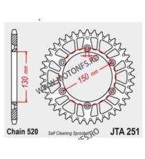 JT - Foaie (spate) Aluminiu JTA251, 48 dinti -XR250 R XR500 R XR600 R WR125 YZ125 WR250 YZ250 YZ250 F YZ426 F WR450 F 110-469...