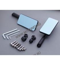 Set oglinzi retrovizoare Universal Negru Din aluminiu Dreptunghi Compatibile cu 8mm / 10mm OM7VIFK5 OM7VIFK5  Oglinzi CNC 120...