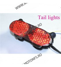 ZR7S  ZX6R J1 / J2 ZX6R G1 / G2 ZX900 ZX9R ZZR600 1998 - 2007 Stopuri LED Cu Semnale Integrate Fumuriu st188  Stopuri LED cu ...