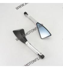 Set Oglinzi Retrovizoare Universal CNC Pentru Motocicleta Naked Streetfighter Argintiu Sport OCM84712 OCM84712  Oglinzi CNC 1...