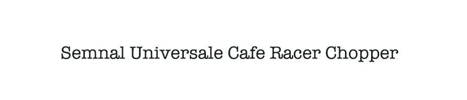 Semnal Universale Cafe Racer Chopper