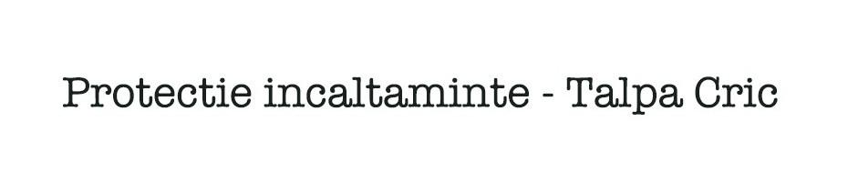 Protectie incaltaminte / Talpa Cric