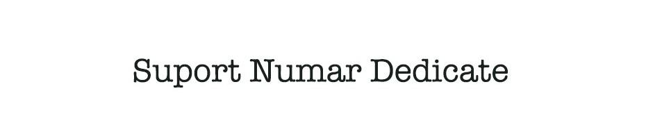 Suport Numar Dedicate