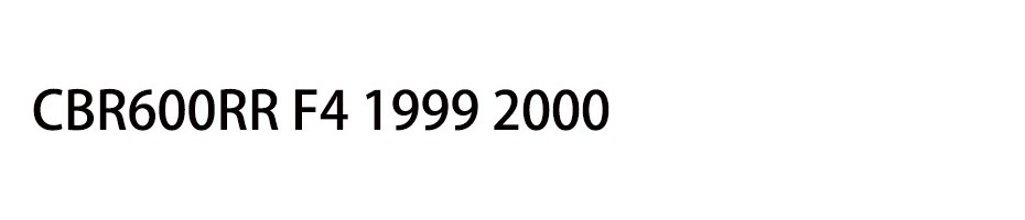 CBR600RR F4 1999 2000